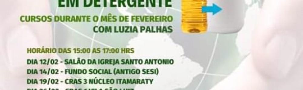 Prefeitura promove curso para transformar óleo usado em detergente