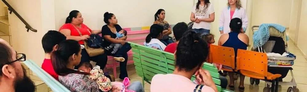 SAÚDE PROMOVE PALESTRA SOBRE CUIDADOS COM RECÉM-NASCIDOS NO AMBULATÓRIO DO BEBÊ