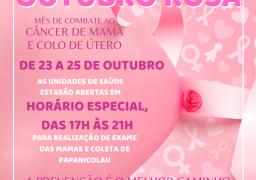 """A Prefeitura e a Secretaria Municipal de Saúde convocam as Mulheres para Campanha de Prevenção ao Câncer do Colo do Útero e Câncer de Mama  o """"Outubro Rosa"""